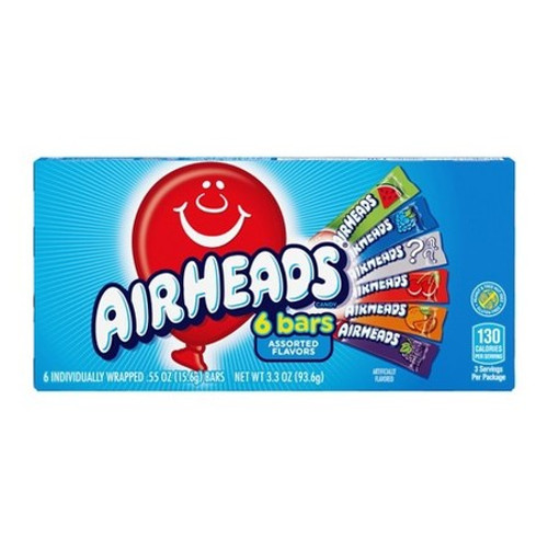 AirHeads 6 Bars - Assorted 93.6g
