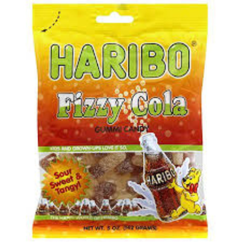 Haribo Fizzy Cola - Sour, sweet, and Tangy 142g