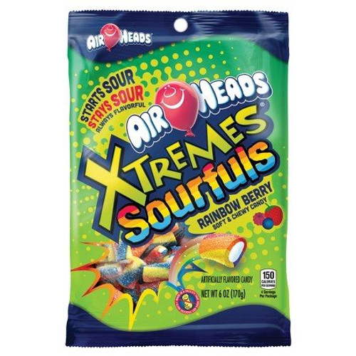 AirHeads Bites - Extremes Sourfuls Rainbow Berry Soft & Chewy Candy 170g