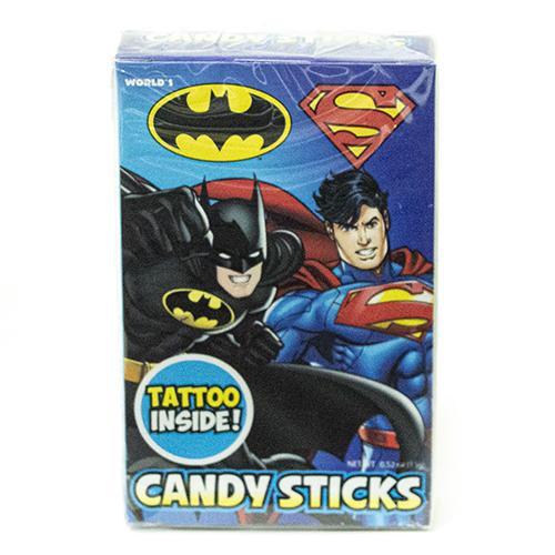 Batman  & Superman Candy Sticks 15g