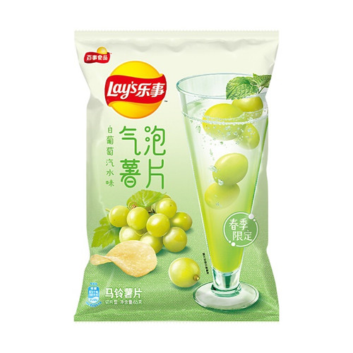 Lay's White Grape Soda Flavor Chips 125g
