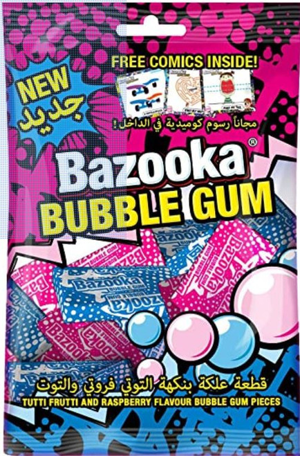 Bazooka Tutti Frutti and Raspberry (Tunisia)