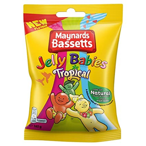 Maynards Bassetts Jelly Babies Tropical 165g