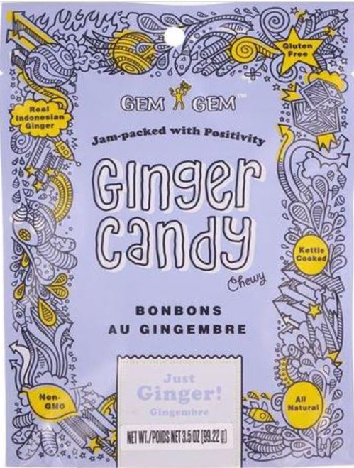 Gem Gem Chewy Ginger Candy - Just Ginger