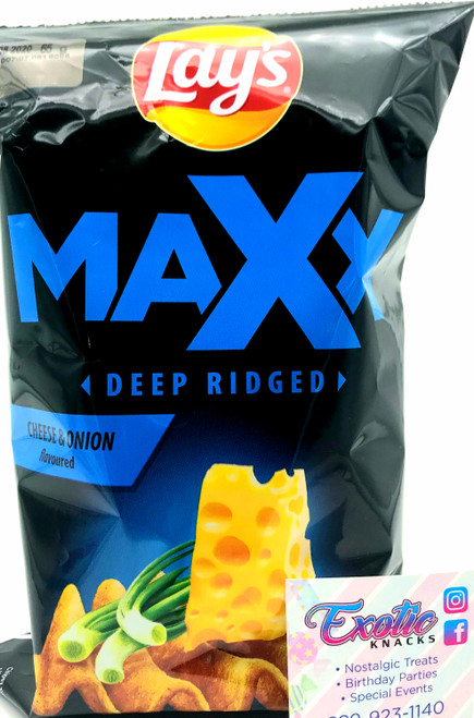 Lay's Maxx Deep Ridged Cheese and Onion Flavoured 65g