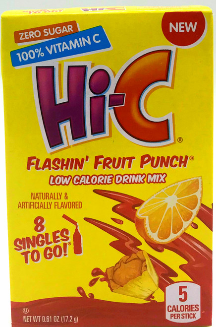 Hi-C Flashing Fruit Punch Singles to Go