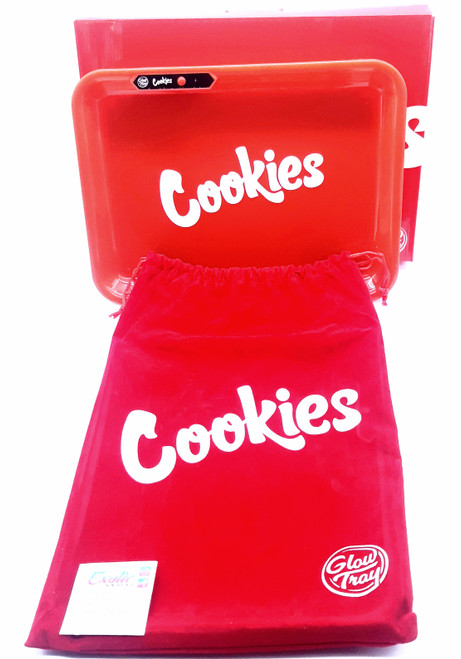 Cookies LED Glowing Rolling Tray - Red