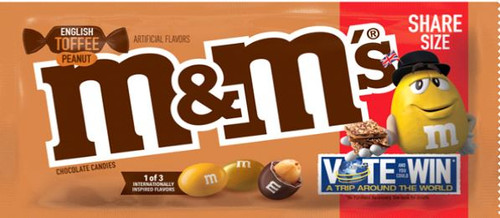 M&M English Toffee Peanut Chocolate