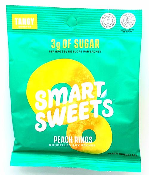 Stevia-Sweetened Gummy Bears - Peach Rings 50g