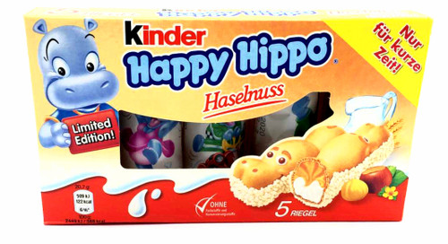 Happy Hippo Milk & Hazelnut  5pk 103g