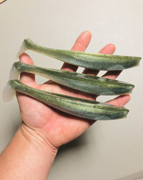 FREEDOM FISH REPLACEMENT TAILS  LARGE(3 PACK) OLIVE/SANDEEL