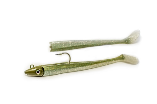 Joebaggs  Sandeels   NEW   (OLIVE )  9/0 HOOK- THE BEST NIGHT COLOR
