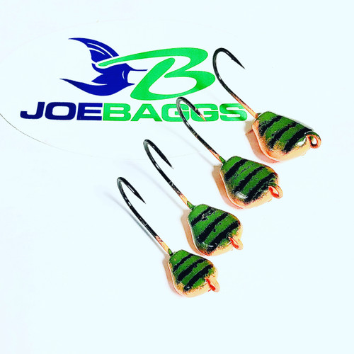 (10 PACK) Togzilla  2xx hooks  (Lay Perfect) Jigs  Green Crab