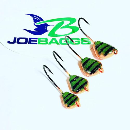 ( 5  pack) Togzilla  2xx hooks  (Lay Perfect) Jigs  Green Crab