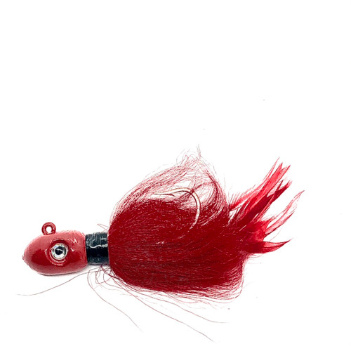 CUSTOM BUCKTAIL 6oz  BULLET  ANGRY SQUID RED (BLOW OUT SALE)