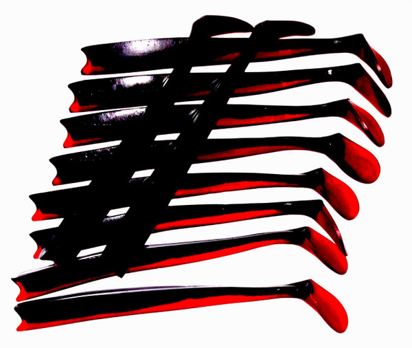 Discontinued Patriot Fish Black/Red replacement tails (10pack)