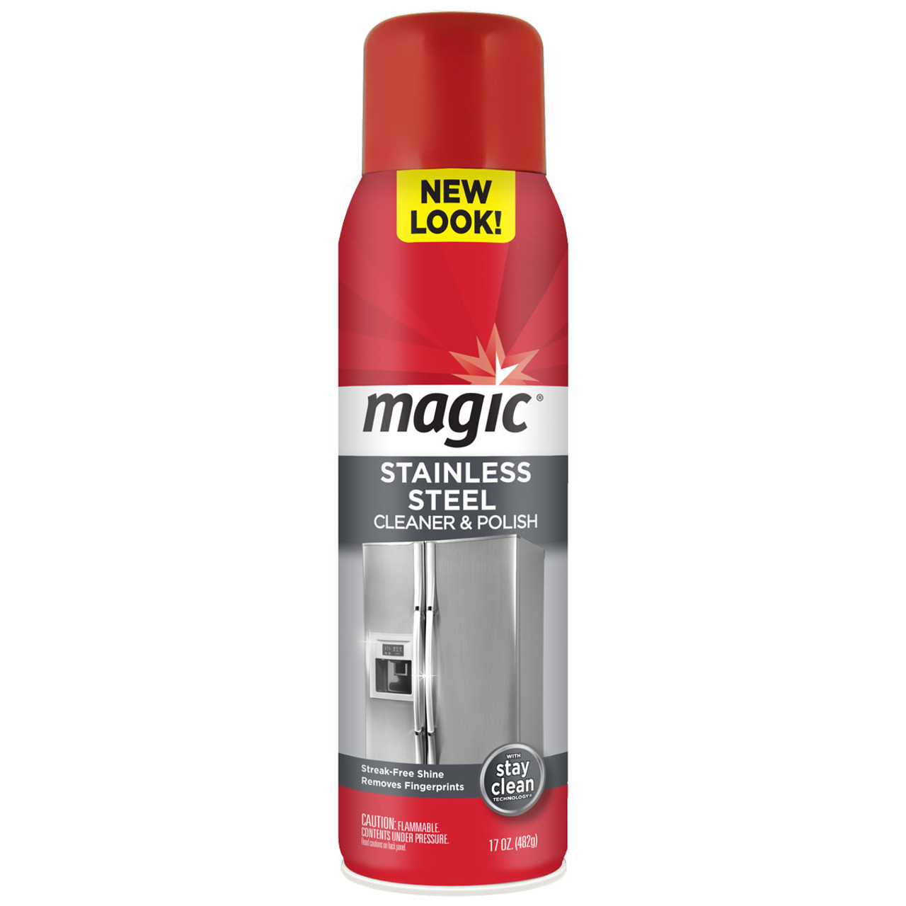 Magic - Stainless Steel Cleaner & Polish (17oz. Aerosol) - Front of can