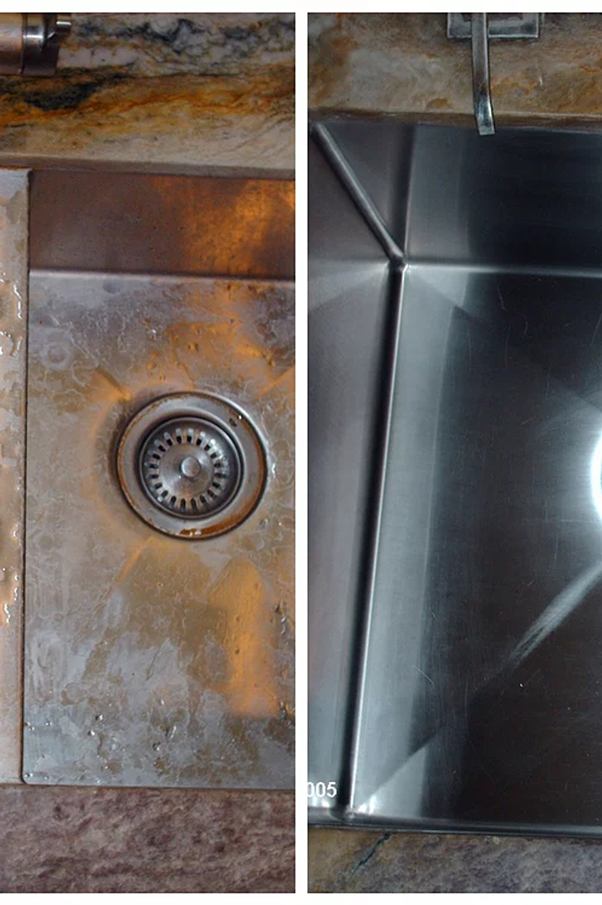 Scratch-B-Gone - Before And After Sink