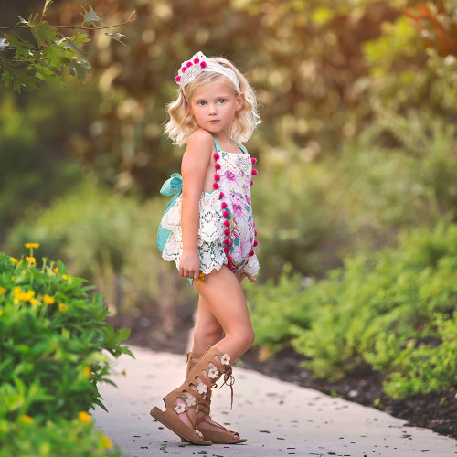 Nora Floral Heirloom Sunsuit Romper