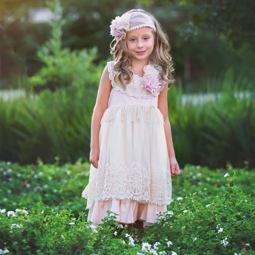 Prissy Grace Little & Big Girls Boho Dress