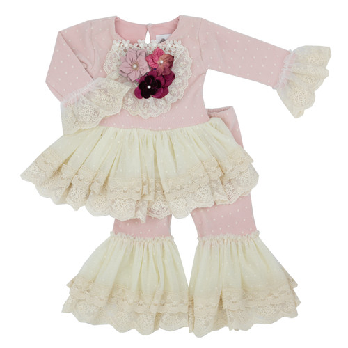 Frilly Frocks | Isabella Vintage Heirloom Infant & Toddler Girls Tutu Legging Set