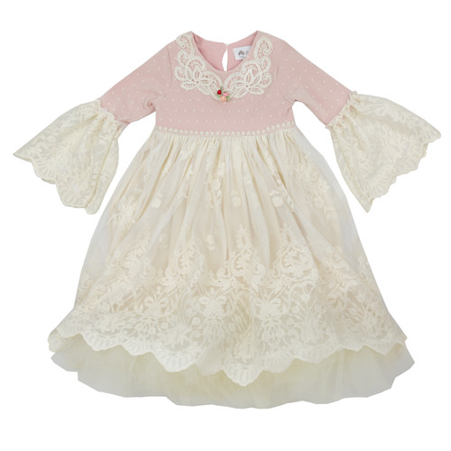 Frilly Frocks | Isabella Vintage Heirloom Little & Big Girls Hi-Lo Dress