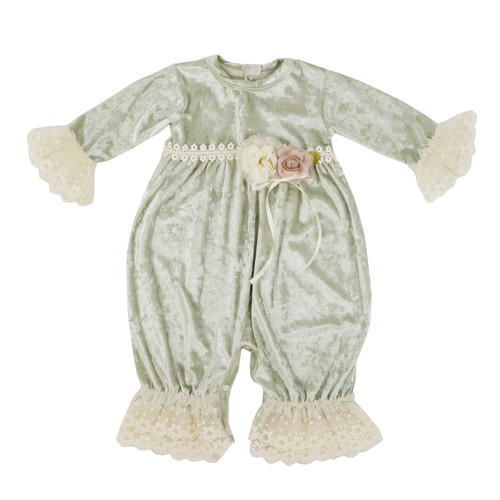 Frilly Frocks | Abigail Baby Girls Vintage Heirloom Coverall