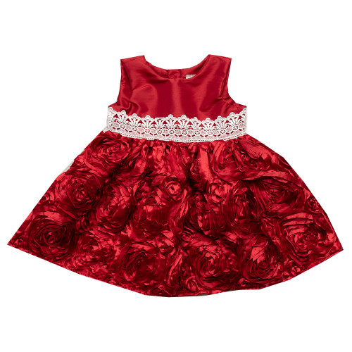 Exclusive! Haute Baby Christmas Classic Red Dress
