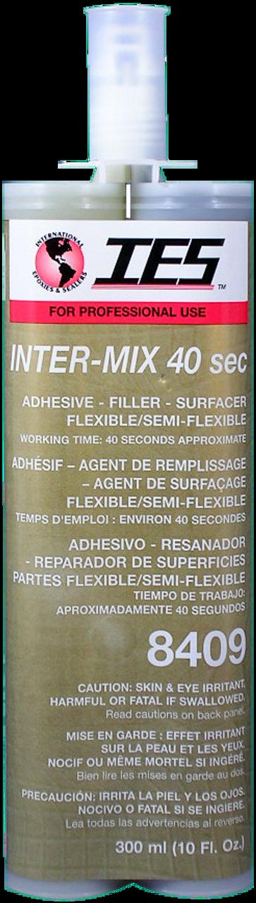 IES 8409 Inter-mix 40 FSF Flexible/Semi-Flex Epoxy Filler 10oz/300ml