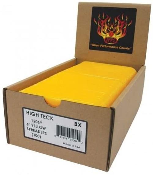 "High Teck 1206Y 6"" Yellow Spreaders 100/Box"