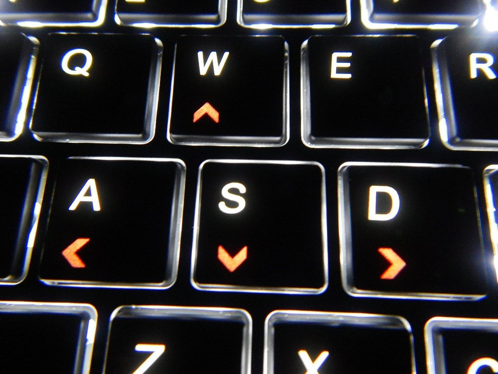Backlit Keyboard - WASD