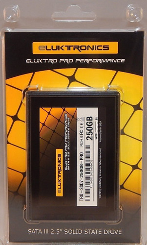 Eluktro Pro Performance 250GB SSD SATA III (6 GB/s) MLC 2.5-Inch 7mm Internal Solid State Drive