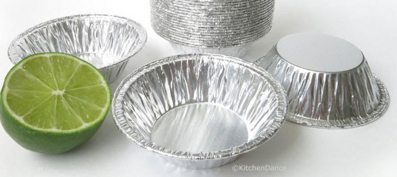 "3"" Disposable Small Aluminum Foil Tart Pan- Case of 1000  #301"