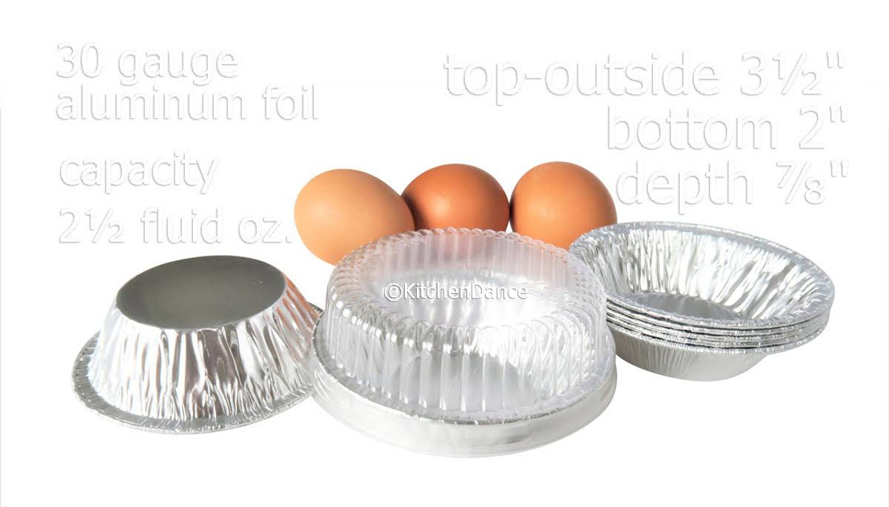"3"" Disposable  Aluminum Tart Pan w/ Plastic Lid -  Case of 2000  #301P"
