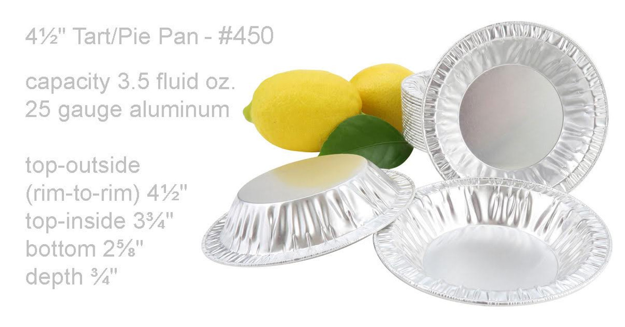 "4½"" Disposable Individual Size Foil Tart or Pie Pan - Case of 1000 #450"