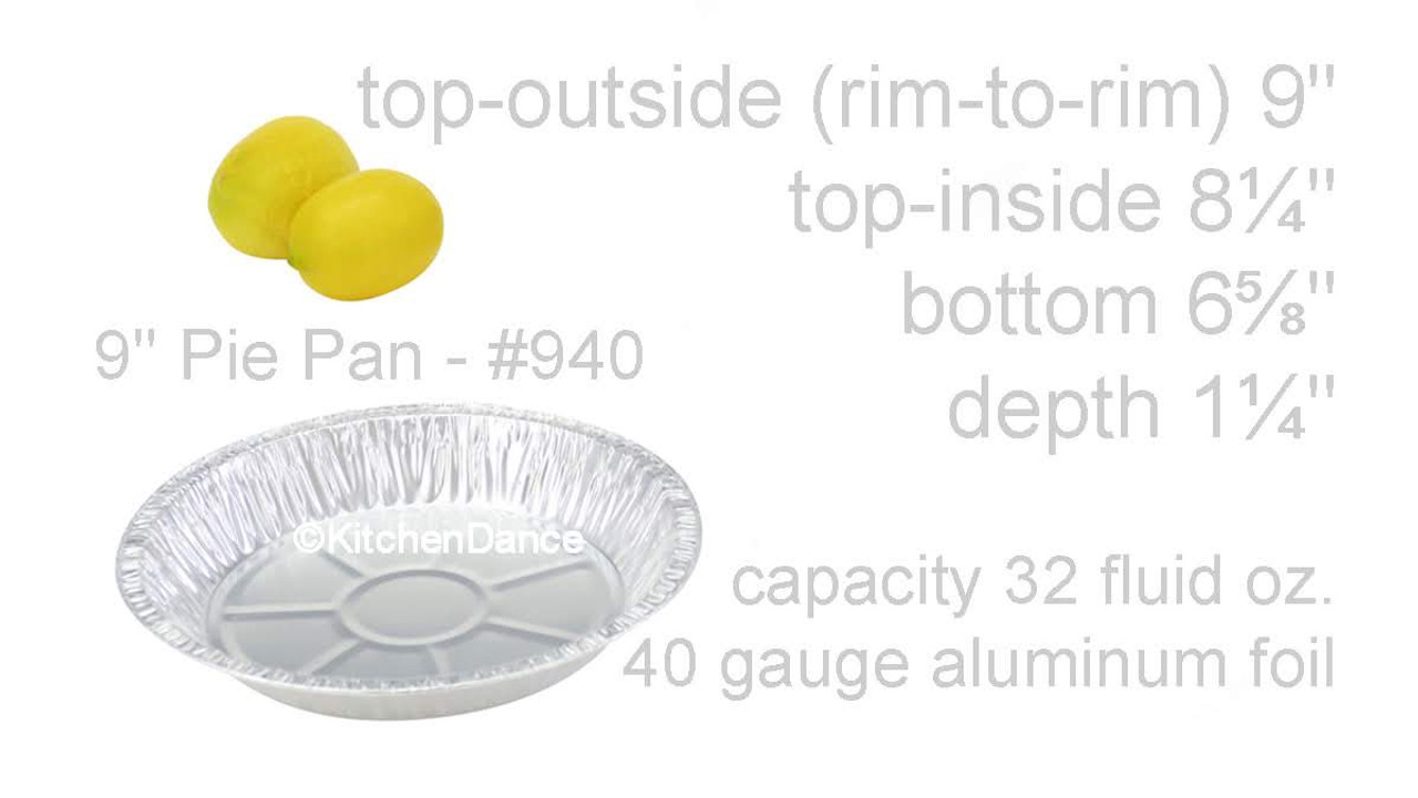 "9"" Disposable Aluminum Foil Pie Pan - Extra Deep - Case of 500 - #940"