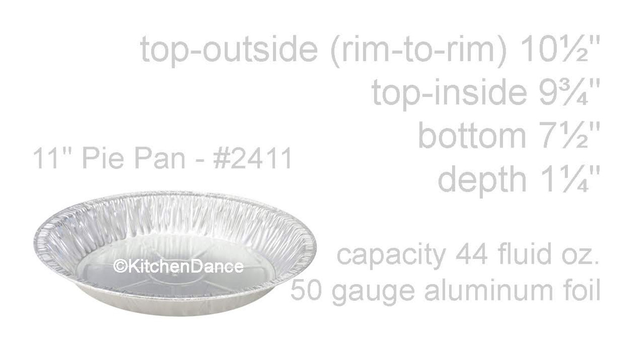 "11"" Disposable Aluminum Foil Deep Pie Pan -  Case of 500  #2411"