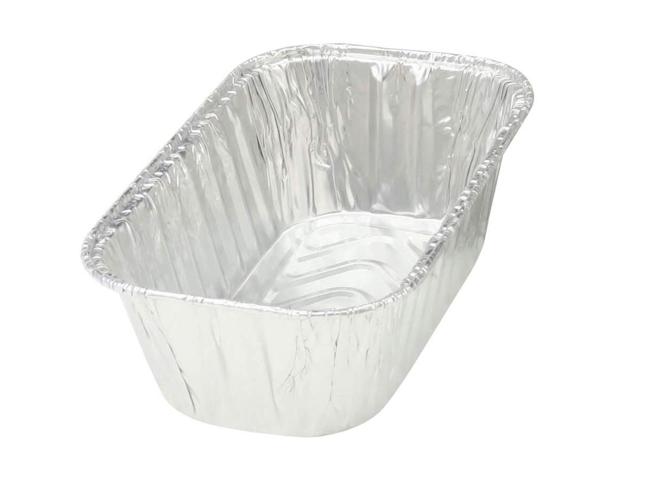 1 lb. Disposable Aluminum Foil Mini Loaf Pan - Case of 200  #5000NL