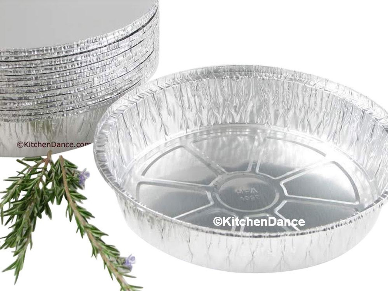 """Disposable 10"""" Round Foil Carryout Pan with Board Lid  Case of 250- #260L"""