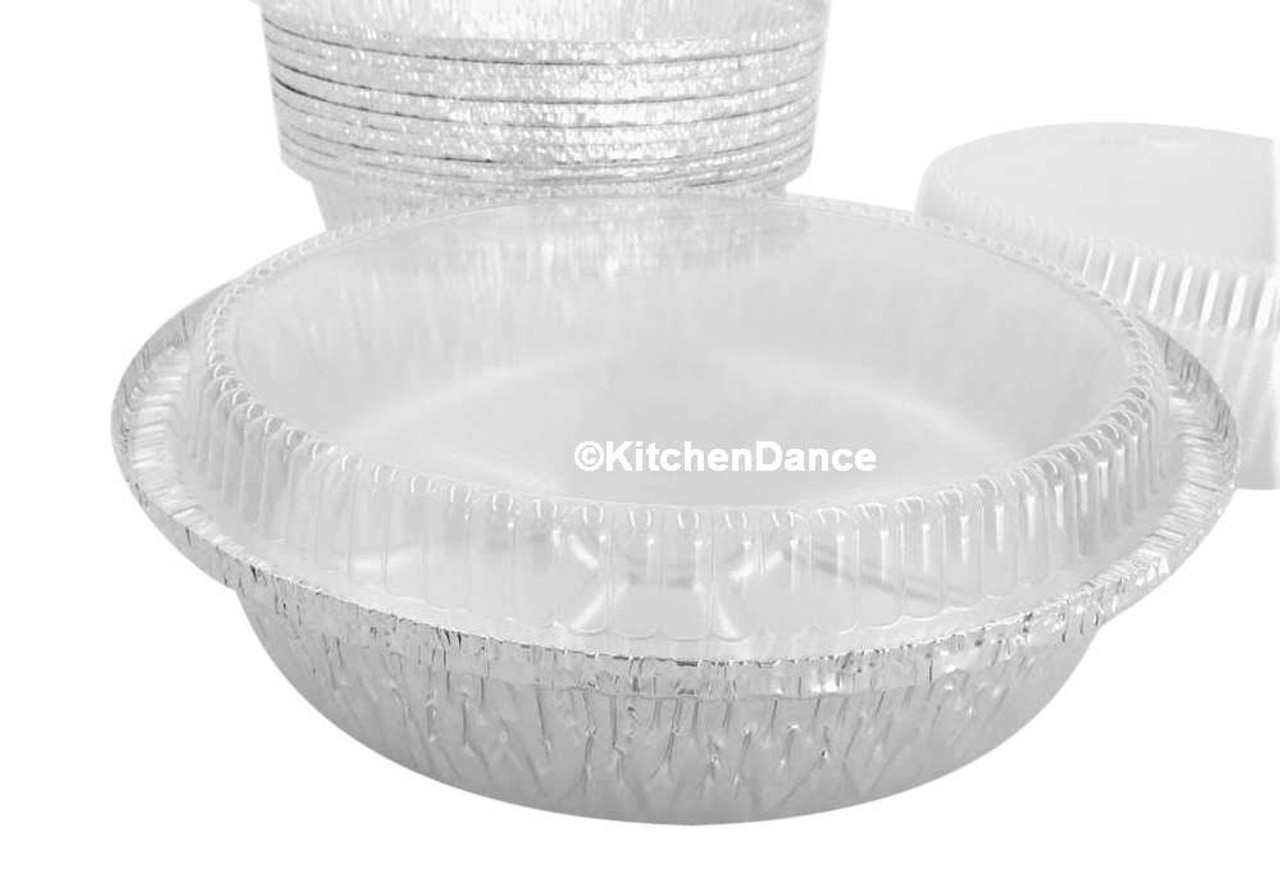 """10"""" Round Carryout Pan with Plastic Lid  Case of 250 - #260P"""