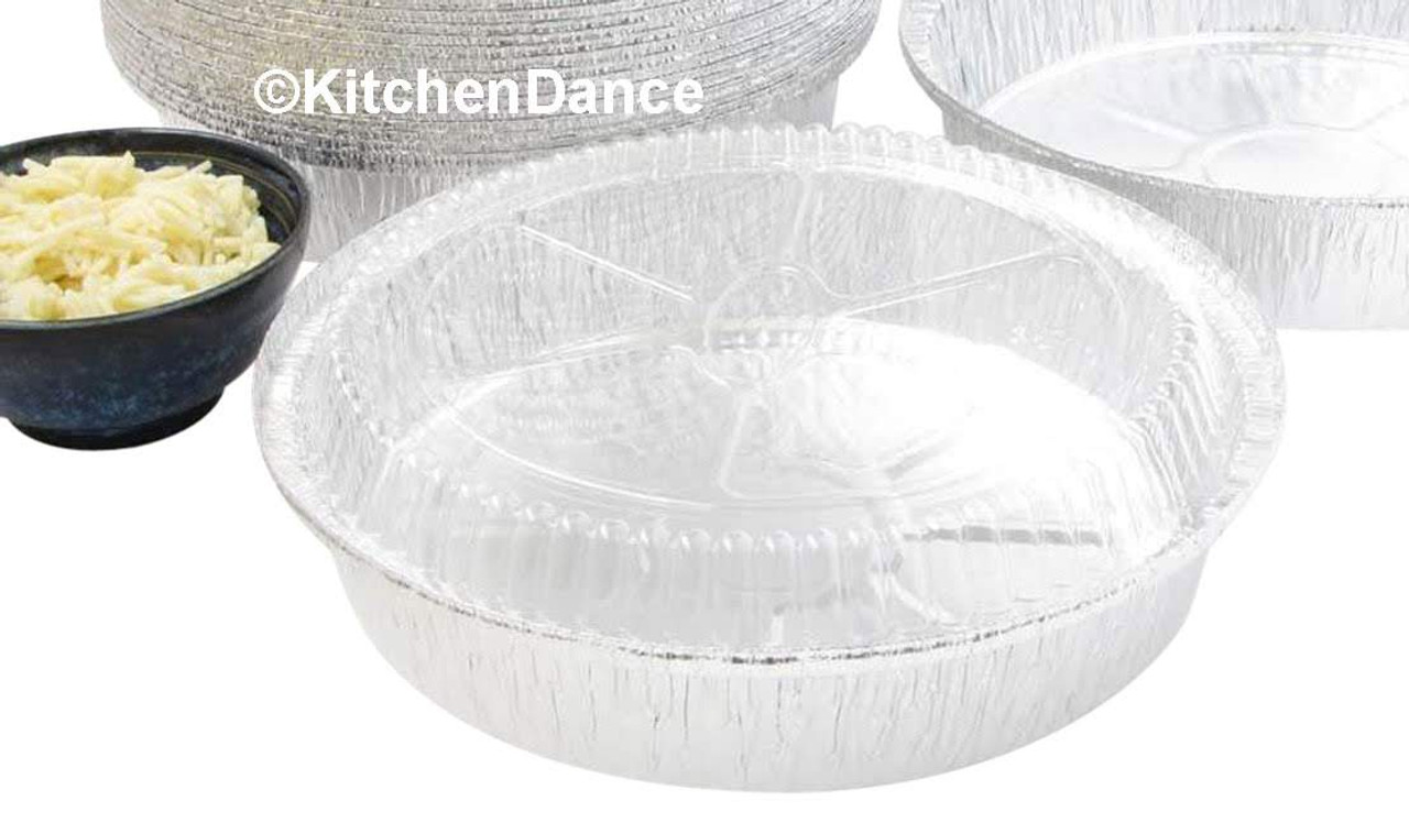 "9"" Round Carryout Pan with Plastic Dome Lid - Case of 500  #290P"