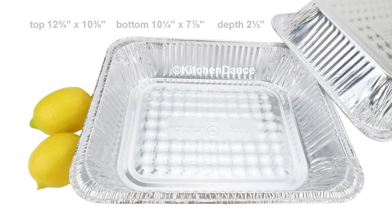 Half Size Disposable Steam Table Pan - Deep -  Case of 100  #4200