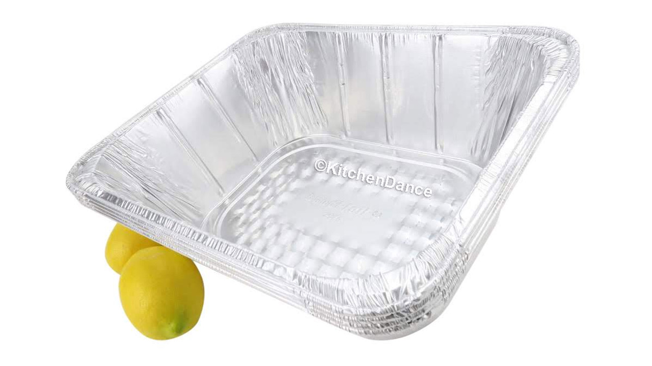 Disposable Half-Size Steam Table Foil Pan - Extra Deep  Case of 100 - #4288