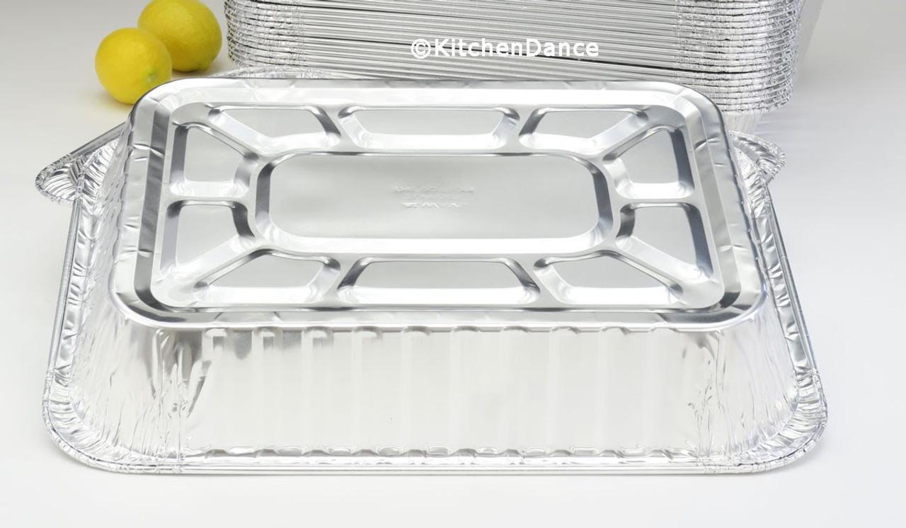 Disposable Rectangular Roasting Pan - Case of 100  #41110