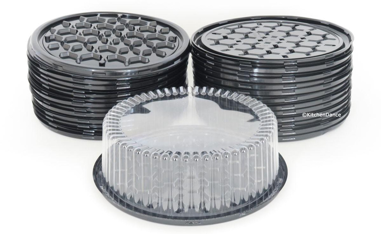"9"" Cake Container for 1-2 layers  Case of 80 - #WG25"