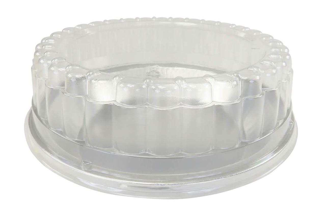 "9"" Disposable Heavy-Foil Deep Pie Pan w/ Clear Dome Lid - Case of 200 -  #509DL"