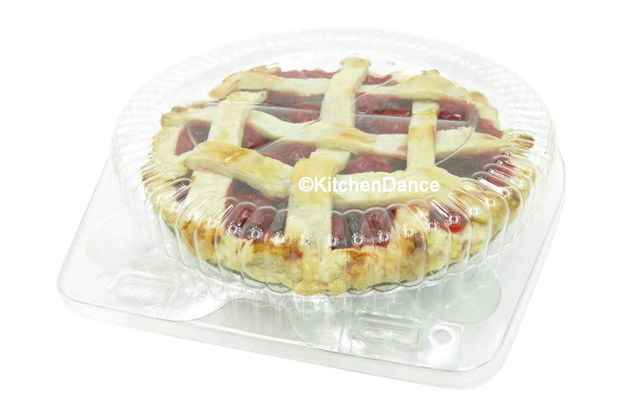 """6"""" Plastic Clamshell Pie Container - Case of 300  #CPC106"""