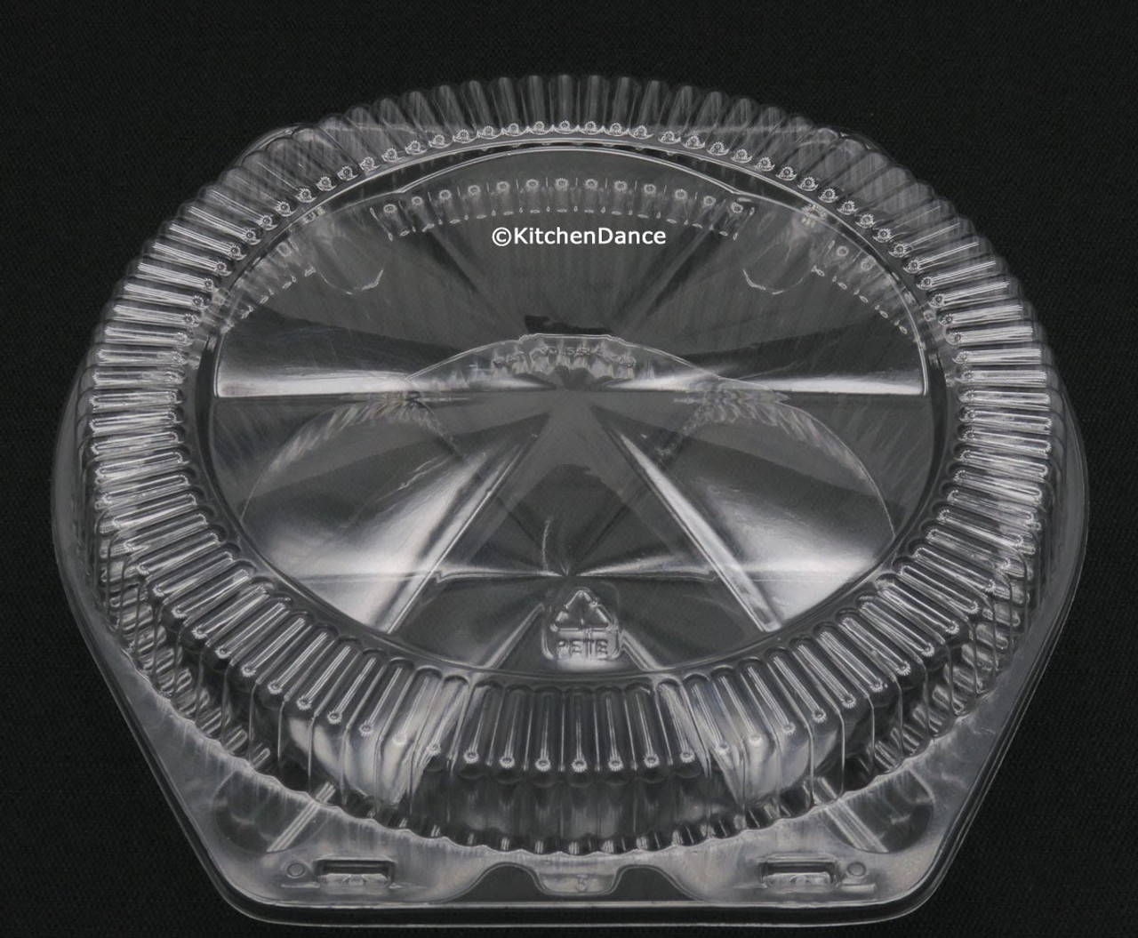 """9"""" Plastic Low Dome Clamshell Pie Container - Case of 200  #CPC109"""