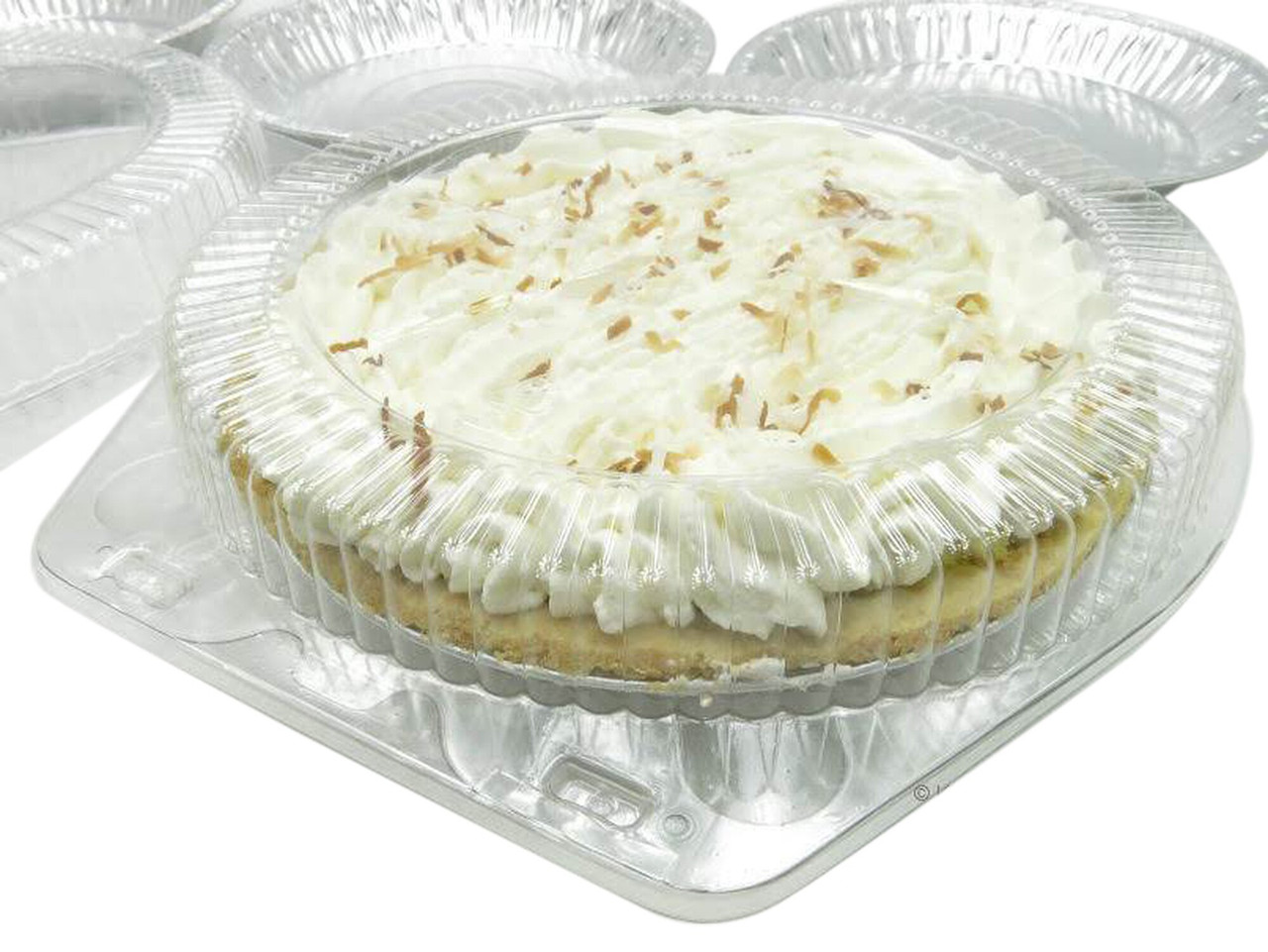 """10"""" Low Dome Clamshell Pie Container - Case of 200  #CPC110"""