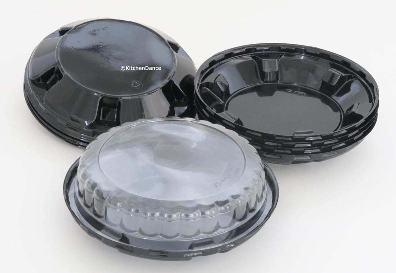 """6"""" Disposable Plastic Pie Container - Case of 200  #CPC496"""